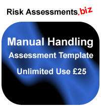 Manual Handling Risk Assessment Template £25